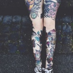 idee tattoos 2 cuisses hibou et pie
