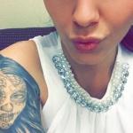 modele tatouage bras portrait calavera