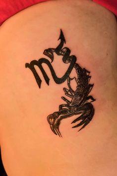 tatouage scorpion fille signe astrologique et animal avec effet 3d