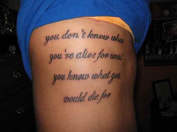 idee tattoo phrase paragraphe sur 4 lignes