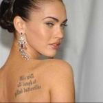 phrase courte pour tatouage femme megan fox