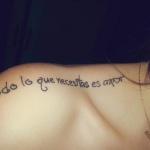 phrase en francais tatouage femme