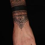tatouage feminin bracelet mandala large