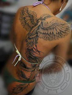 tatouage phoenix femme dos. Black Bedroom Furniture Sets. Home Design Ideas