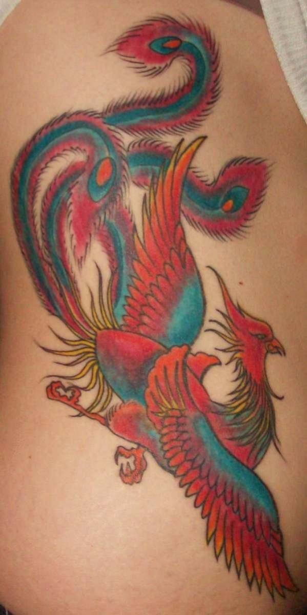 phoenix tatouage femme tout en couleur tatouage femme. Black Bedroom Furniture Sets. Home Design Ideas