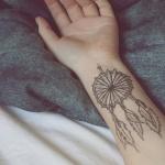exemple tatouage attrape reve femme discret interieur avant bras dessus du poignet