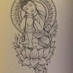 exemple tatouage bouddha femme et lotus