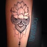 fleur de lotus originale tatouage femme mandala