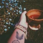 idee tatoo femme amerindien attrape reve petit et discret