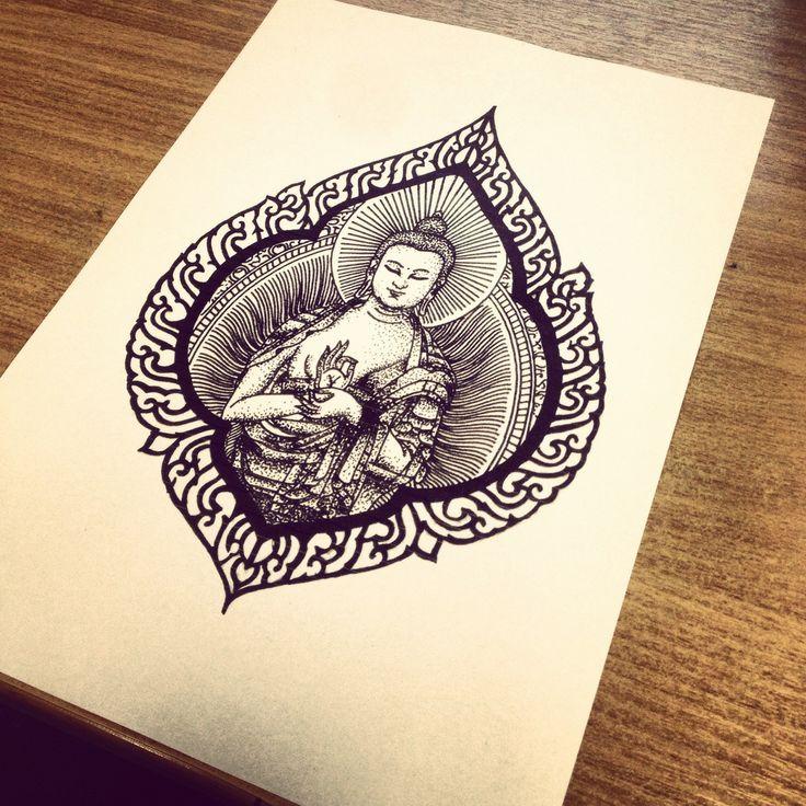 idee tatouage bouddhiste femme dans cadre original tatouage femme. Black Bedroom Furniture Sets. Home Design Ideas
