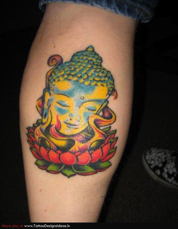 photo tatouage fleur de lotus femme et tete de bouddha tatouage femme. Black Bedroom Furniture Sets. Home Design Ideas