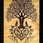 dessin modele tatouage femme arbre de vie