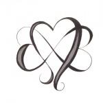 tatouage femme infini avec coeurs enchevetres