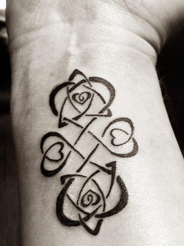 coeurs femme a tatouer interieur poignet