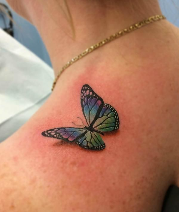 Papillon bleu tatouage images galleries with a bite - Tatouage de papillon ...