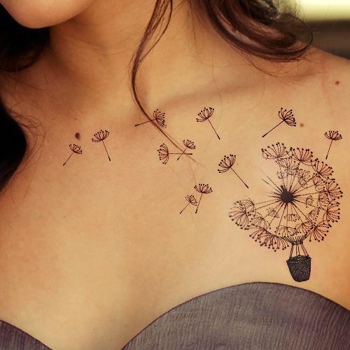 tatouage femme pissenlit idees
