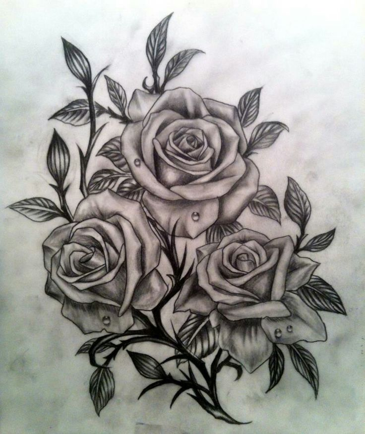 dessin tatouage fleurs 3 roses tatouage femme. Black Bedroom Furniture Sets. Home Design Ideas