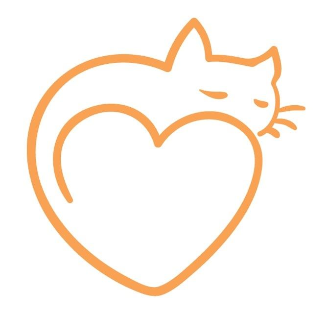 Simple Heart Line Art : Dessin tatouage chat stylise avec coeur femme
