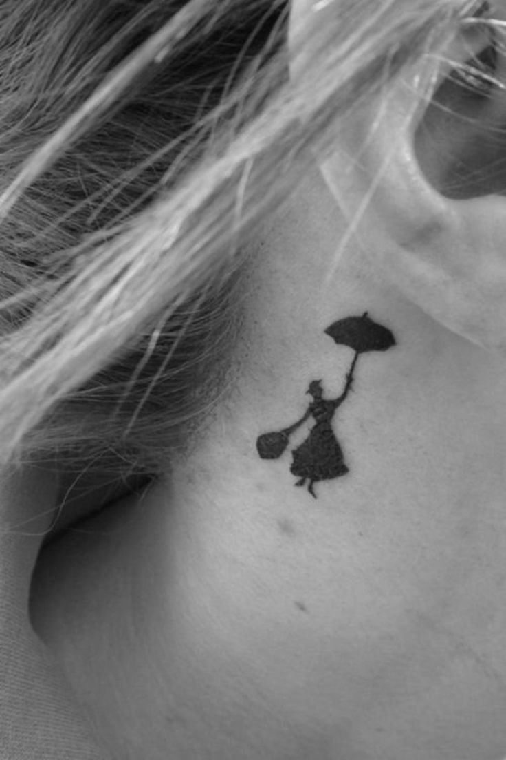 Tatouage Oreille Femme dedans tattoo discret femme derriere oreille mary poppins - tatouage femme