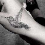 Colibri tatoue sur main
