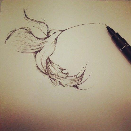 Photo tattoo oiseau de paradis dessine