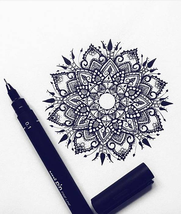 Mandala Dessin Simple Tatouage Kolorisse Developpement