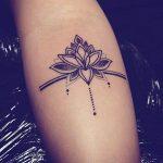 Modele tatouage dotwork epure mandala