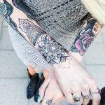 Photo tattoo bras bracelet feminin mandala