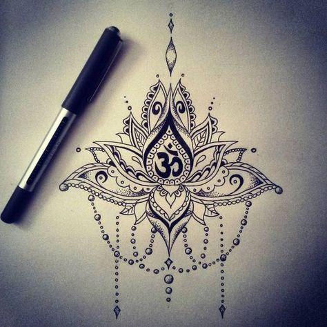 tatouage mandala om en dessin tatouage femme. Black Bedroom Furniture Sets. Home Design Ideas